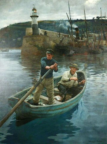 Stanhope Alexander Forbes.1857-1947. The Lighthouse.1892. Manchester Art Gallery.